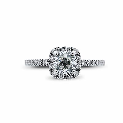 Cushion Cut Cluster Ring 0.84ct